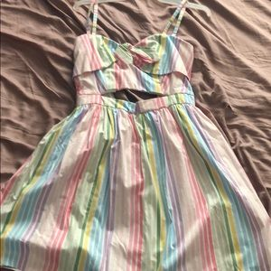 Cut out rainbow dress